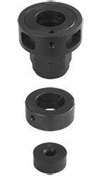Attachment heads for button dies/intermediate rings/guide bushings